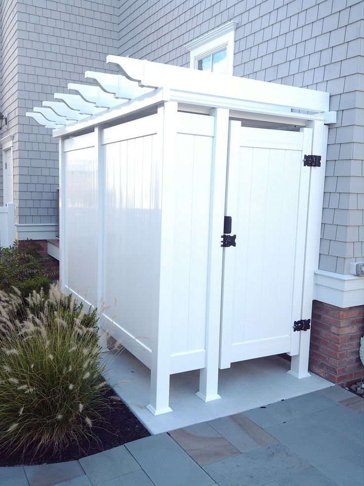Outdoor Shower Enclosures Photo Gallery | Dennisville Fence