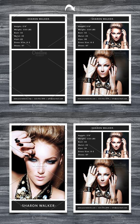 Model Comp Card Template Model Comp Card Card Template Card Templates