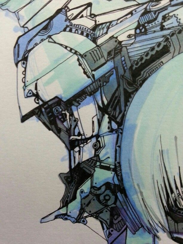 Mecanic Face by TriHakki. /pen