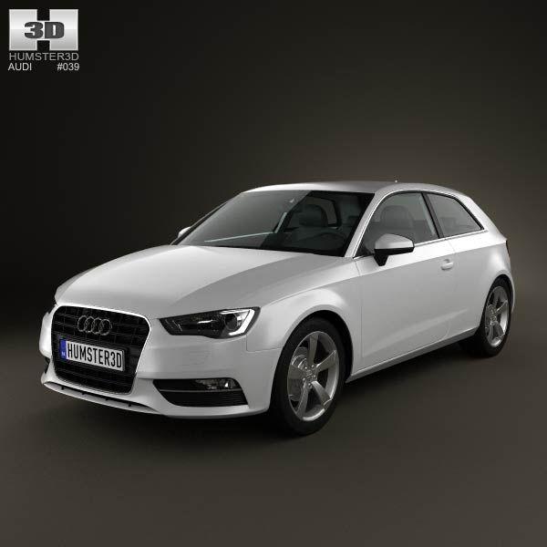 Audi A3 Hatchback 3-door 2013 3d model from humster3d.com. Price: $75