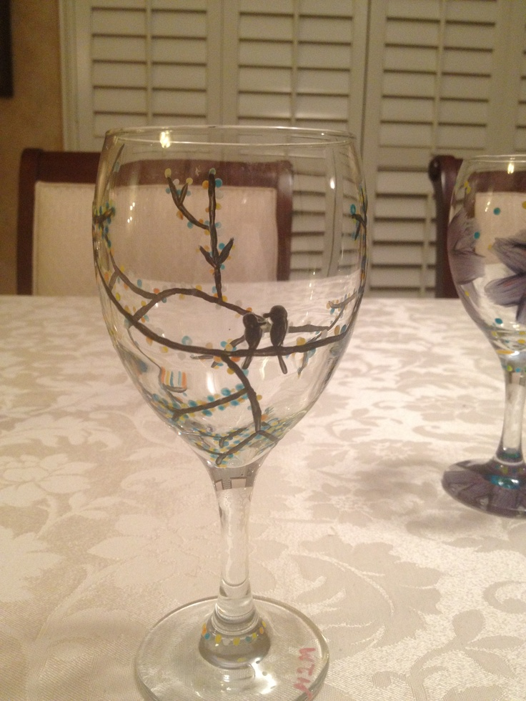 17 best images about diy gift ideas on pinterest lip for Diy painted wine glasses