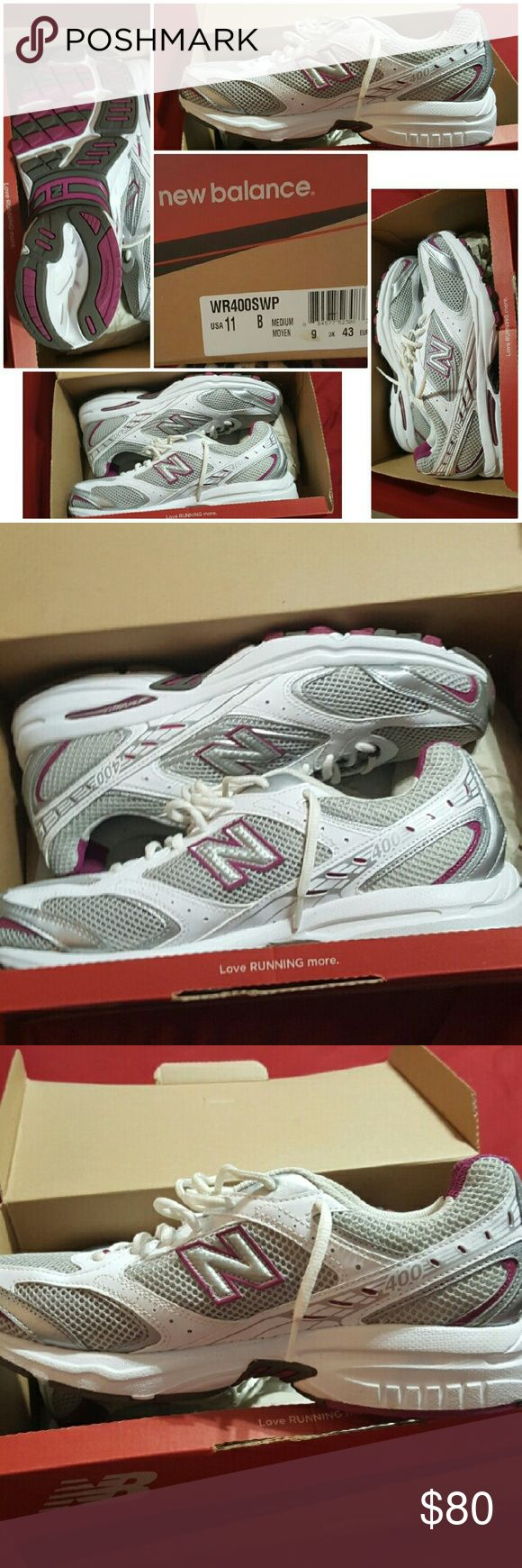 *PRICE DROP* New Balance Women's WR400 Running 11 New Balance Women's WR400 Running Shoe NEW in Box Women's Size 11   New Balance is known for quality, comfortable running shoes.  They have provided that and more with the New Balance WR400 running shoe. Built for neutral runners looking for more cushioning. Mesh and synthetic upper for breathability Cushioned footbed ABZORB? cushioning in the heel is form fitting and provides extra comfort  Rubber outsole provides long-lasting shock…