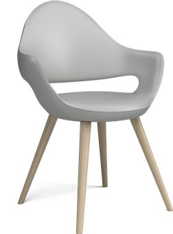 Fusion Dining Chair w. wooden legs