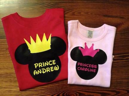Boys Mickey Mouse Prince Or Girls Minnie Mouse Princess