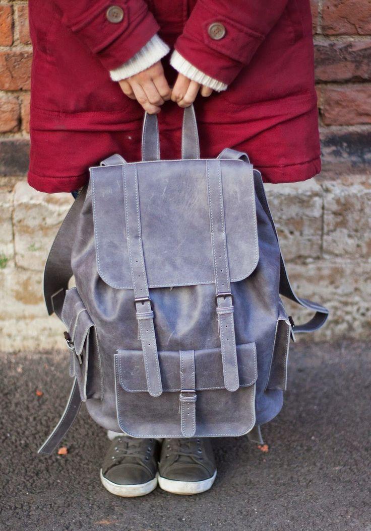 Leather Backpack by Pridnya Anastasiya