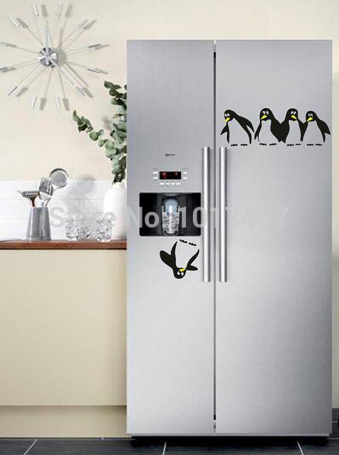 Nouveau Design drôle cuisine réfrigérateur autocollant, Réfrigérateur autocollants salle à manger cuisine stickers muraux décoratifs