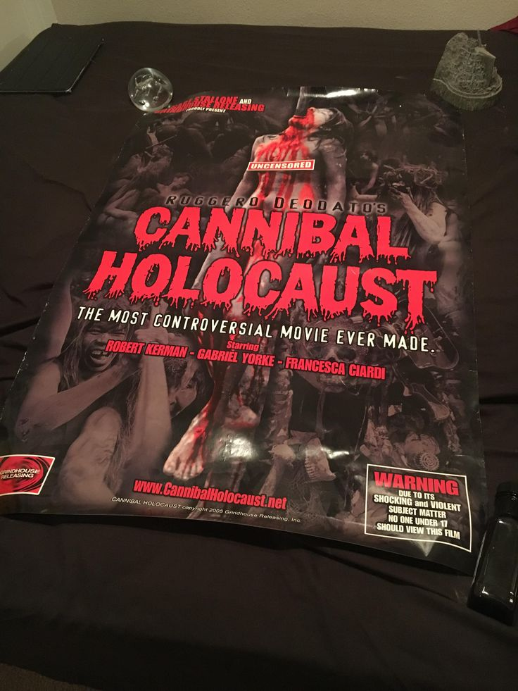 I thought you guys might like this: A poster of Cannibal Holocaust I won 10 years ago at a midnight showing.