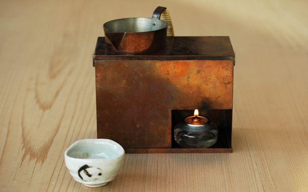 銅の酒燗器(横型)とチロリセット|HIGASHIYA Online shop