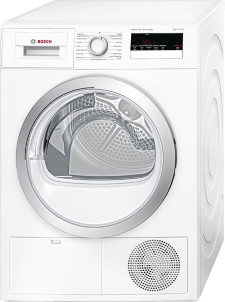 White Freestanding Heat Pump Dryer. wth85200gb. 8Kg capacity drum. Fully electronic control dial. Touch control buttons. Special programmes include, Mixed load, Pillows, Sportswear and Shirts. Sensitive drying. Anti-vibration design. 2 year warranty.