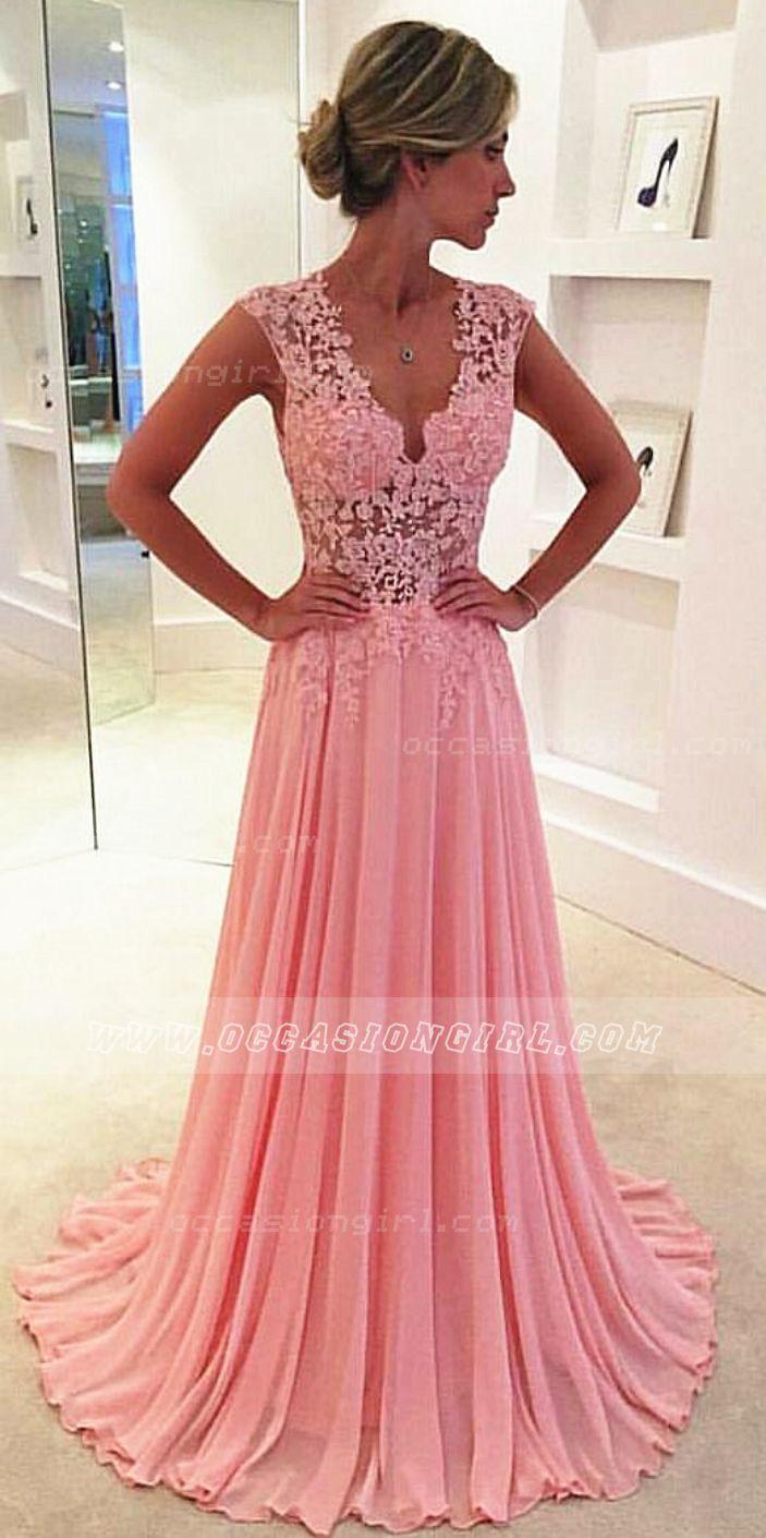 Beautiful peach evening gown