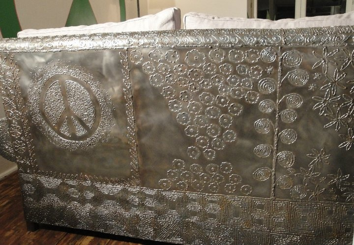 Sofa Back    #sofa, #metal, #love, #peace, #home, #design