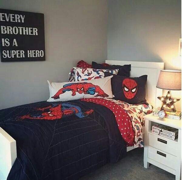 Kids spiderman bedroom