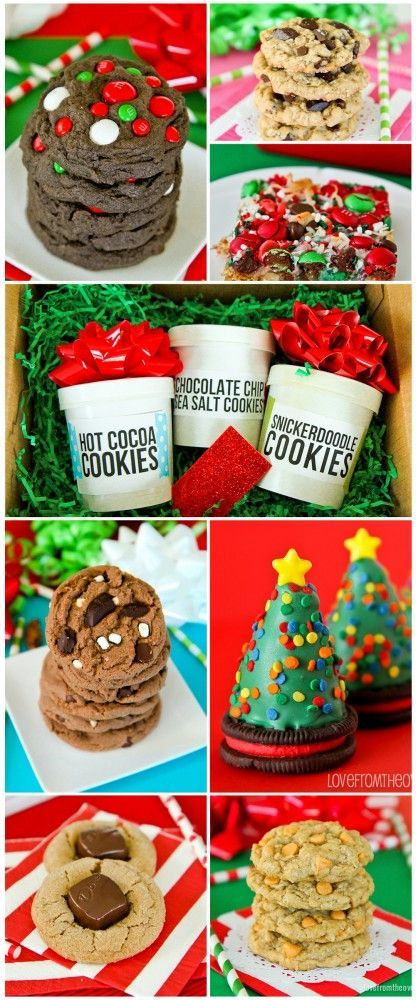 So many great Christmas cookie recipes. Great Christmas cookie exchange ideas.  Cute Christmas Cookie packaging ideas as well.