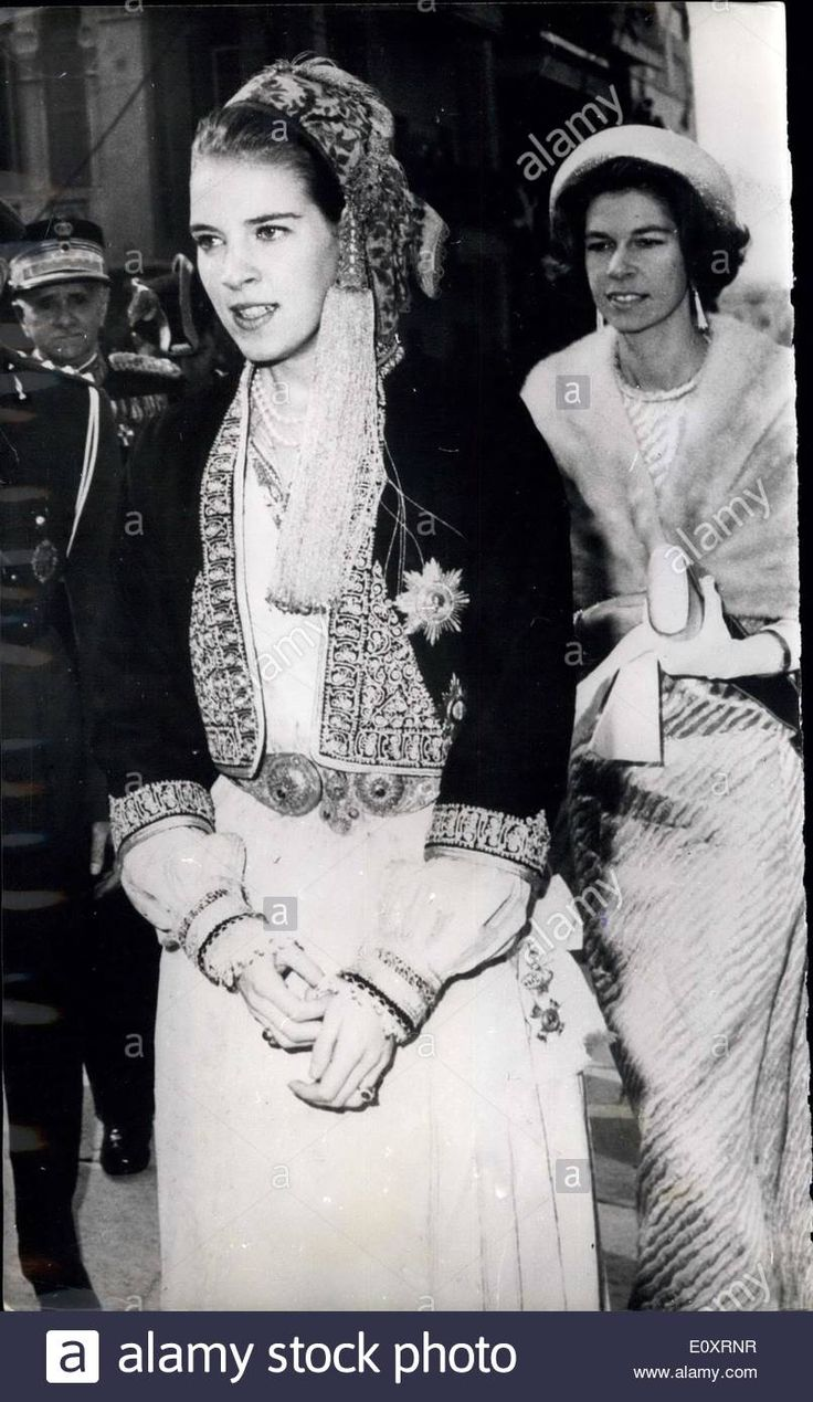 Oct. 30, 1967 - Queen Anne Marie of Greece wears local National costume at Celebrations in Salonica: Members of the Greek Royal  Contributor: Keystone Pictures USA / Alamy Stock Photo