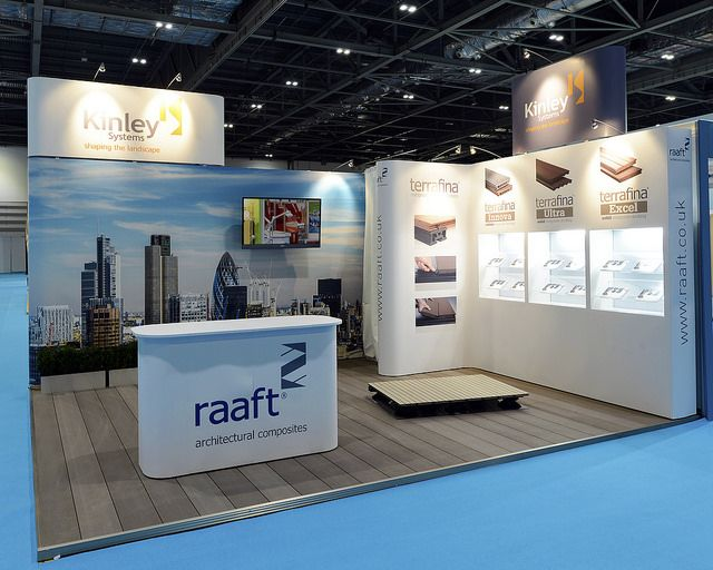 Modular Exhibition Display for Kinley in Ecobuild Event at London. Do you want a free design? contact us at http://www.expodisplayservice.ae/FreeDesign.aspx