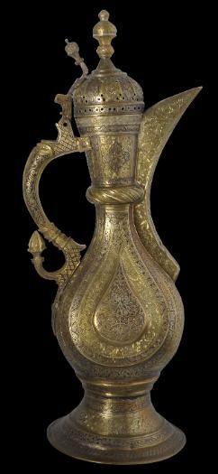 Brass Teapot Kokand or Bukhara, Central Asia 19th century