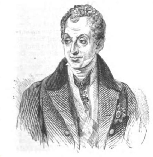 Fürst Metternich.29 July 1843. Illustrirte Zeitung,Nr.5 vom 29.Juli 1843,J.J.Weber,Leipzig 1843.MDZ München,Johann Jacob Weber (Hrsg.),1803-1880.