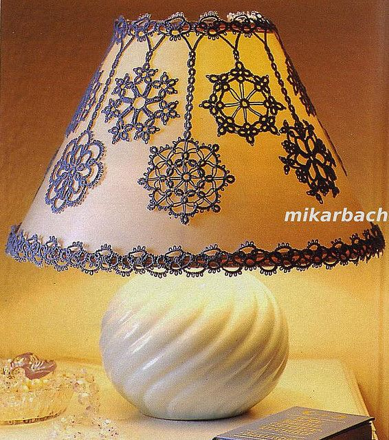 Ooo. Pretty lampshade for a bedroom...