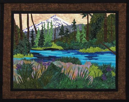 Landscape Quilt Patterns Kits : Wall Hanging and Quilt Patterns by June Jaeger of Log Cabin Quiltworks ~ the Stitchin Post in ...