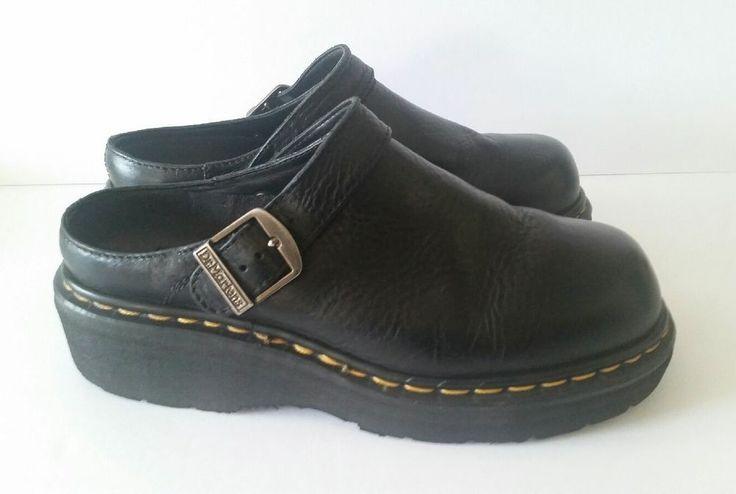 Dr Doc Martens Closed Toe Sandals Black Leather Size UK7 US8 Womens US9 England #DrMartens #Sandals