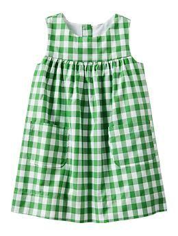 Adorable baby girl Gingham dress   Gap
