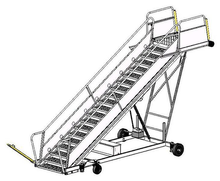 Towable Aircraft Passenger Stair   Towable Aircraft Passenger Stair Towable  Aircraft Passenger Stair Features: Movable
