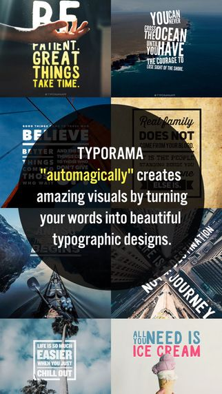 Typorama - Typography Generator, Cool Fonts Design and Instant Creative Caption Text over Photo Editor by Apperto Ltd