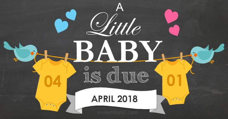 Get week by week and specific information for estimated due date, April 1 2018!