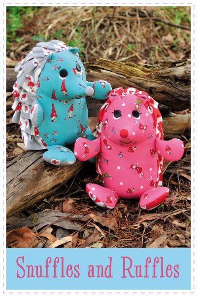 Snuffles and Ruffles the Hedgehogs Pattern... so cute!