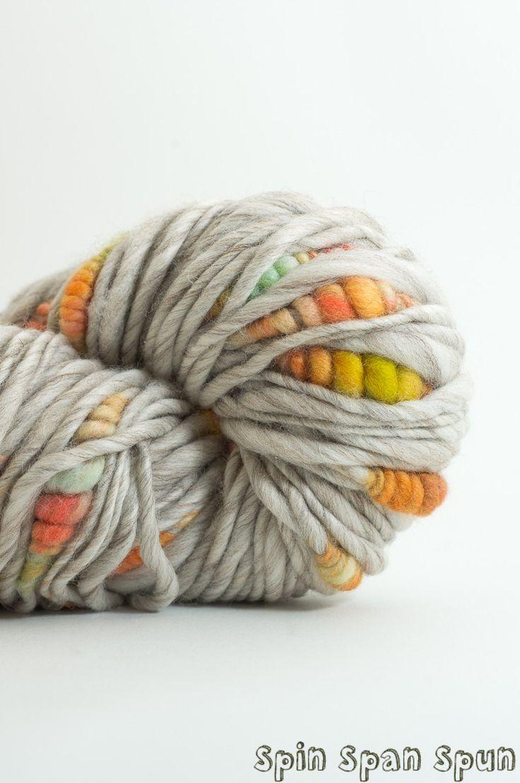 Les Premieres Fleurs, Mostly Merino, CoilSpun BeeHive Art Yarn, HandSpun HandDyed Yarn, 75 yards by SpinSpanSpun on Etsy