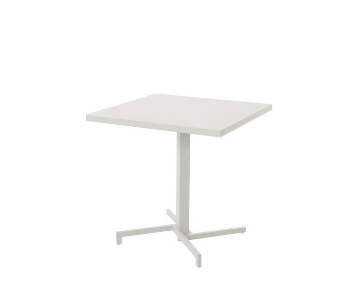 Folding square table Hpl sheet top 75x75
