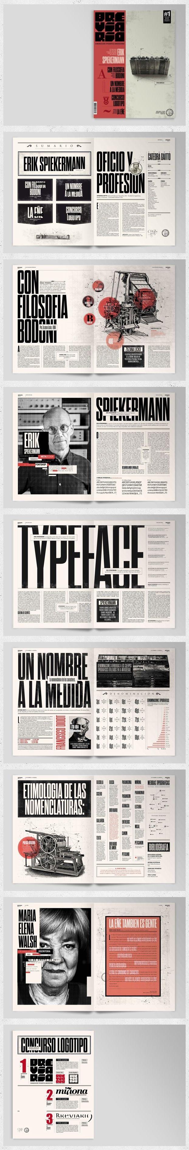 Breviario Magazine | Cool Printed Brochure Designs