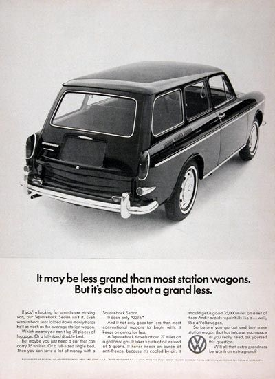 1967 Volkswagen Squareback Wagon Ad Usa By Five Starr