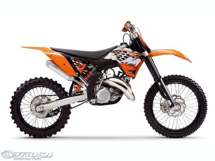 His brand new KTM Dirt Bike