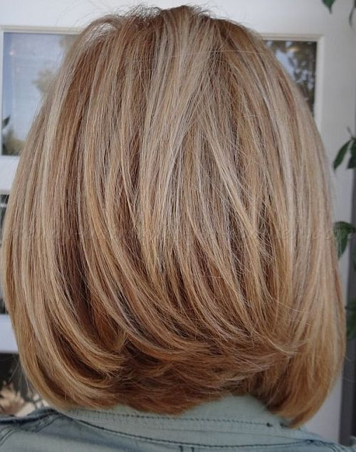 medium hairstyles for mature women - long bob hairstyle for women over 50