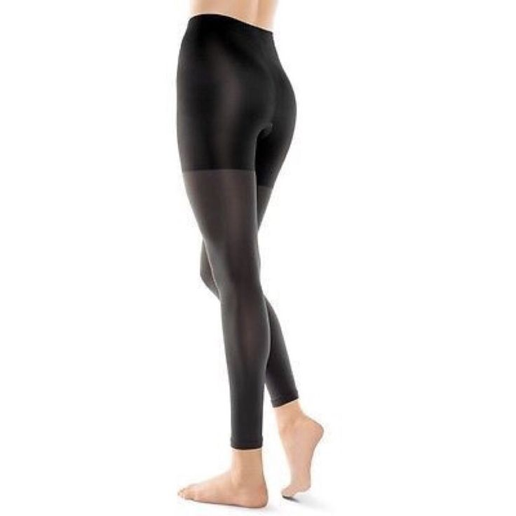SPANX ASSETS FOOTLESS SHAPING TIGHTS VERY BLACK SIZE 1 NEW #Spanx #Tights