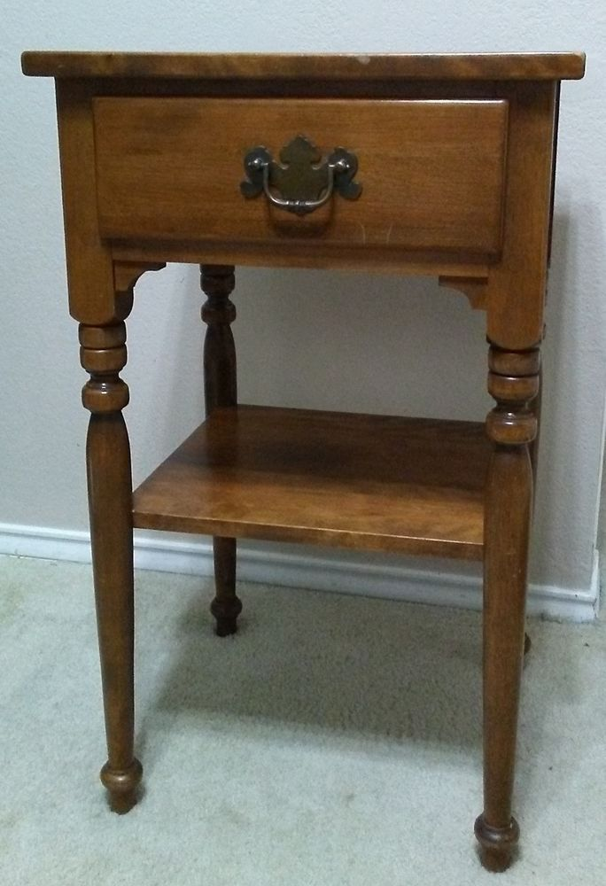 Vintage Ethan Allen End Table Night Stand 10 5026 100 00 End