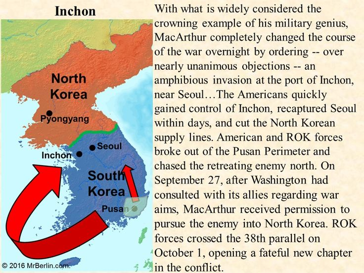 China and the Korean War PowerPoint Presentation  Topics Covered: Chinese civil war Nationalists flee to Taiwan Mao Zedong's Little Red Book Korean civil war U.N. intervention in Korea Americans pushed to Pusan perimeter Invasion of Inchon / Approaching the Yalu Chinese support of North Korea Truman fires MacArthur Demilitarized zone (DMZ) Chiang Kai-shek Mao Zedong Gen. Douglas MacArthur Gen. Matthew Ridgway Pres. Harry Truman…