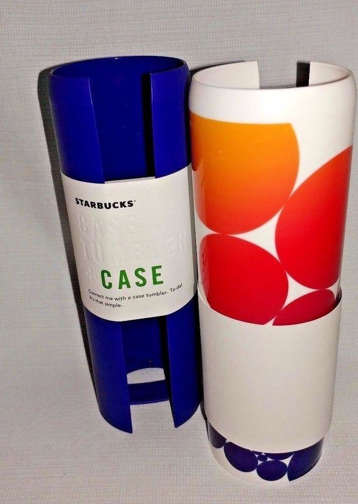 STARBUCKS 16oz CASE TWO SLEEVES for WATER TUMBLER  NEW WITH TAGS Set #2 #Starbucks