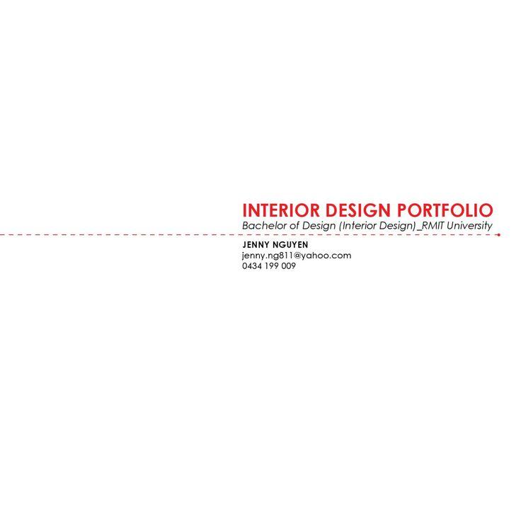 Interior Designs Folio Design CoursesUniversity