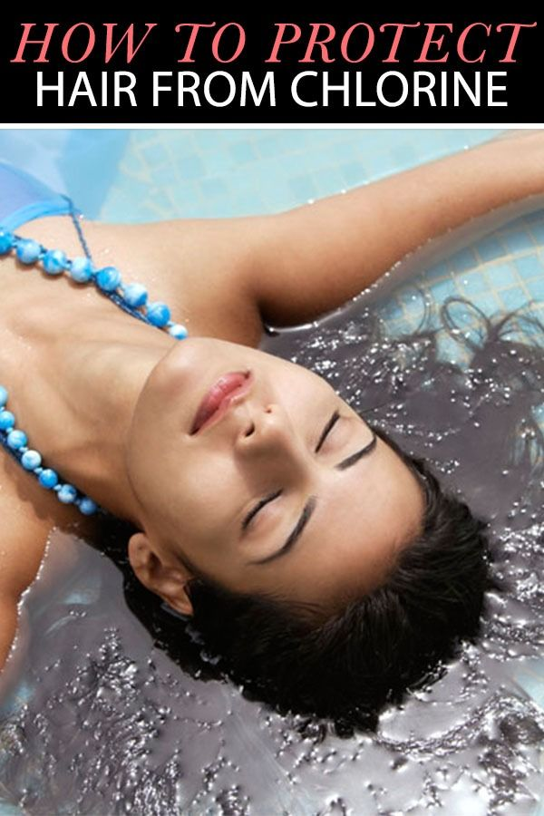 Protect your hair from the pool with these 6 tricks hair - Protection from chlorine in swimming pool ...