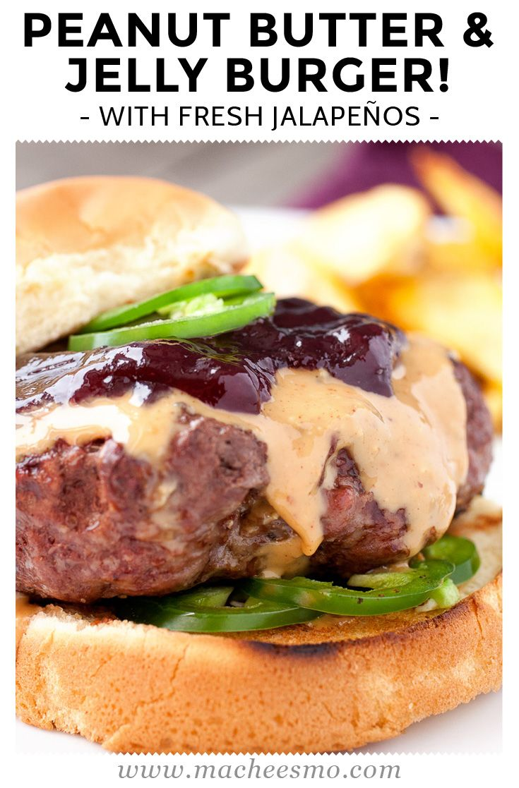 Spicy Peanut Butter & Jelly Burger: This burger topping might sound ridiculous, but I promise it works. Creamy peanut butter, sweet jelly (I like grape), and some fresh jalapenos for crunch and heat. Amazing burger and quick to make!