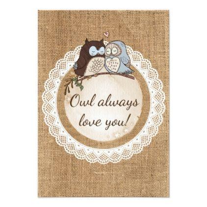 Owl Always Love You Casual Wedding RSVP Card - wedding invitations diy cyo special idea personalize card