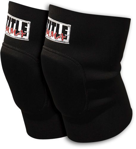 TITLE MMA Neoprene Knee Guards Black wrestling bjj muay thai martial arts