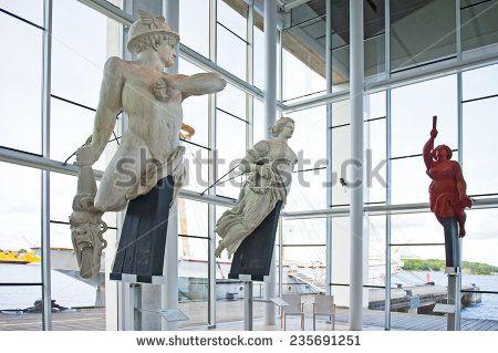 KARLSKRONA, SWEDEN - SEPTEMBER 17: Figureheads in Marinmuseum on September 17, 2011 in Karlskrona