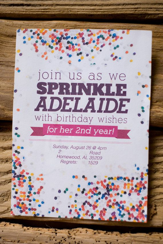 wording0th birthday party invitation%0A Sprinkle Party Invitation by BurlapandBabes on Etsy