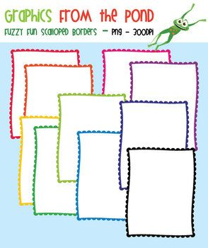 Fuzzy Fun Scalloped Borders - FREE Graphics From the Pond