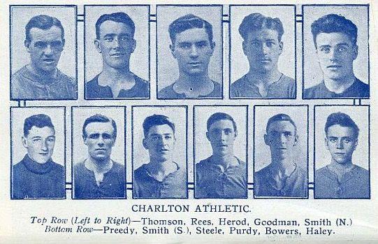Charlton Athletic team pics in 1925.