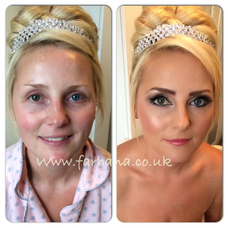 Before and After Bridal  International Artist www.farhana.co.uk