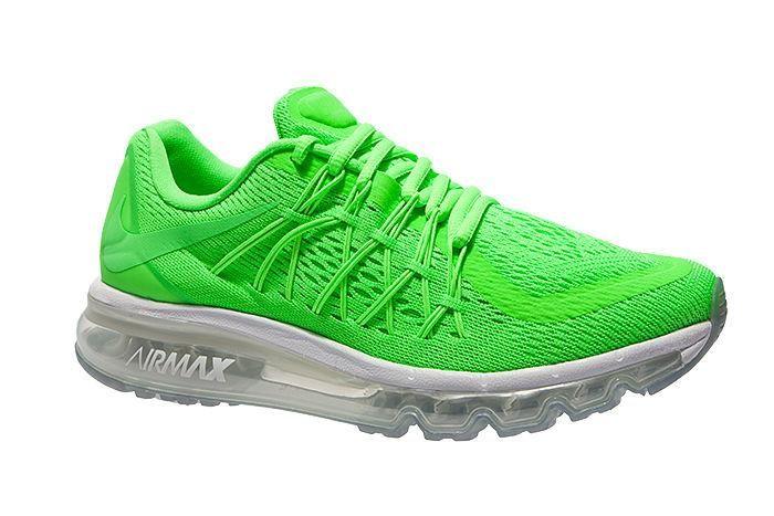 Beste Nike Air Max 2015 Joggesko for Kvinner Fluorescerende Grønne Online GRATIS FRAKT VED DHL 711.08KR